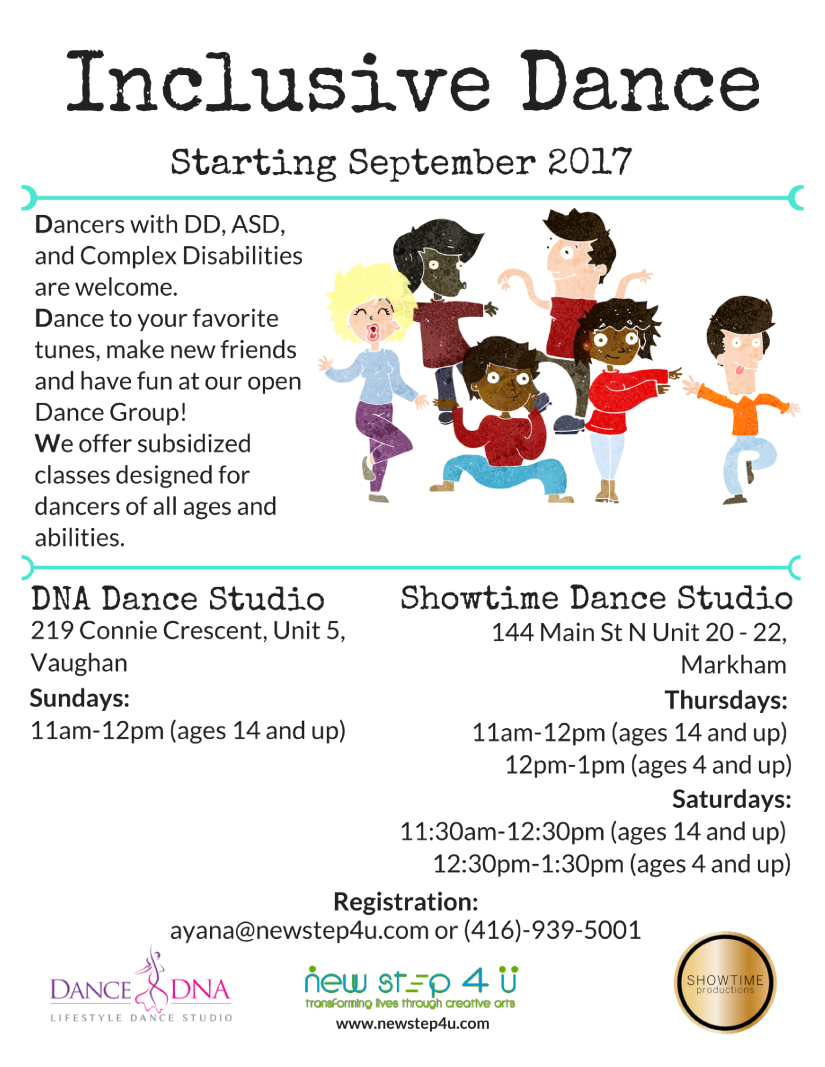 Inclusive Dance Flyer September